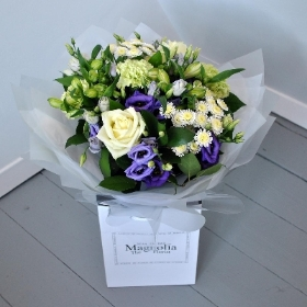 mixed hand tie bouquet, local delivered in corby, kettering